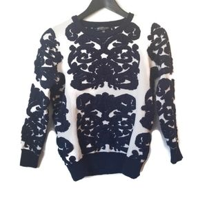 ⚡ Lovely girl womens navy blue and white sweater